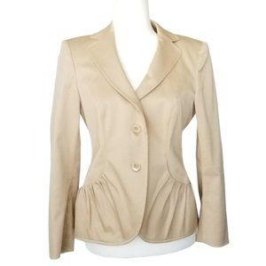 Escada Margaretha Ley Blazer Jacket Cream Size 38